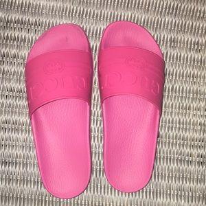 Pink Gucci slides women